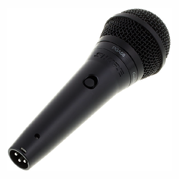 SHURE VOCAL MICROPHONE PGA58 Left