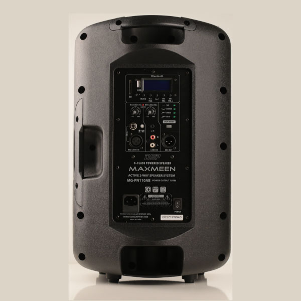 Maxmeen 10″ Power Active 2-Way Speaker system-150-Watt-Bluetooth DSP, MG-PN110AB